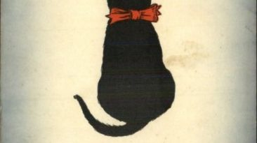 Black Cat Good Luck Postcard