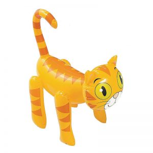 Orange Tabby Inflatable Cat