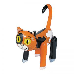 Calico Inflatable Cat