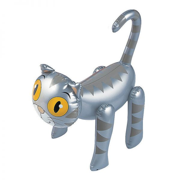 Silver Tabby Inflatable Cat