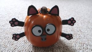 Boo Day 93 - Halloween Pumpkin Cat - Training and Socializing A Feral Cat