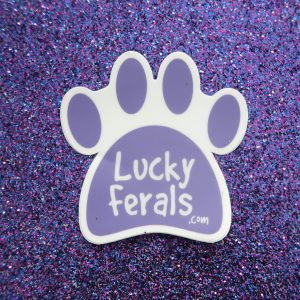 Lucky Ferals Cat Paw Sticker