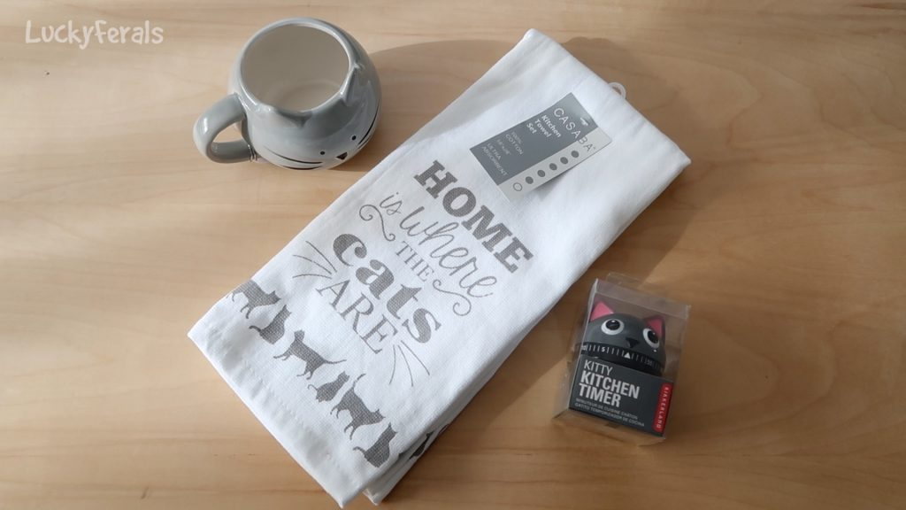 Gray Cat Tea Time Gift Set