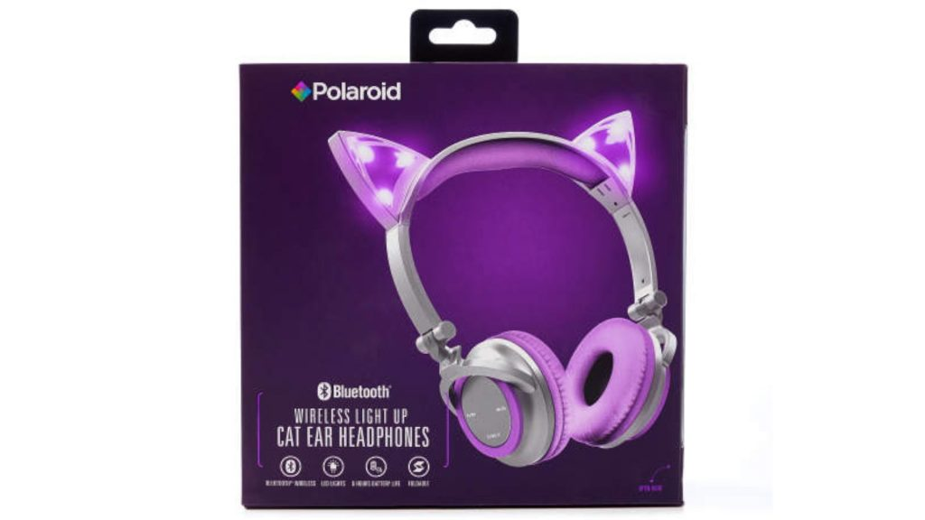 wireless light up cat ear headphones