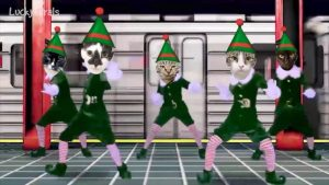 Merry Christmas from The Lucky Ferals 2017! Elf Yourself Cats Dancing