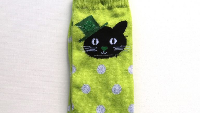 St Patricks Day Cat Socks