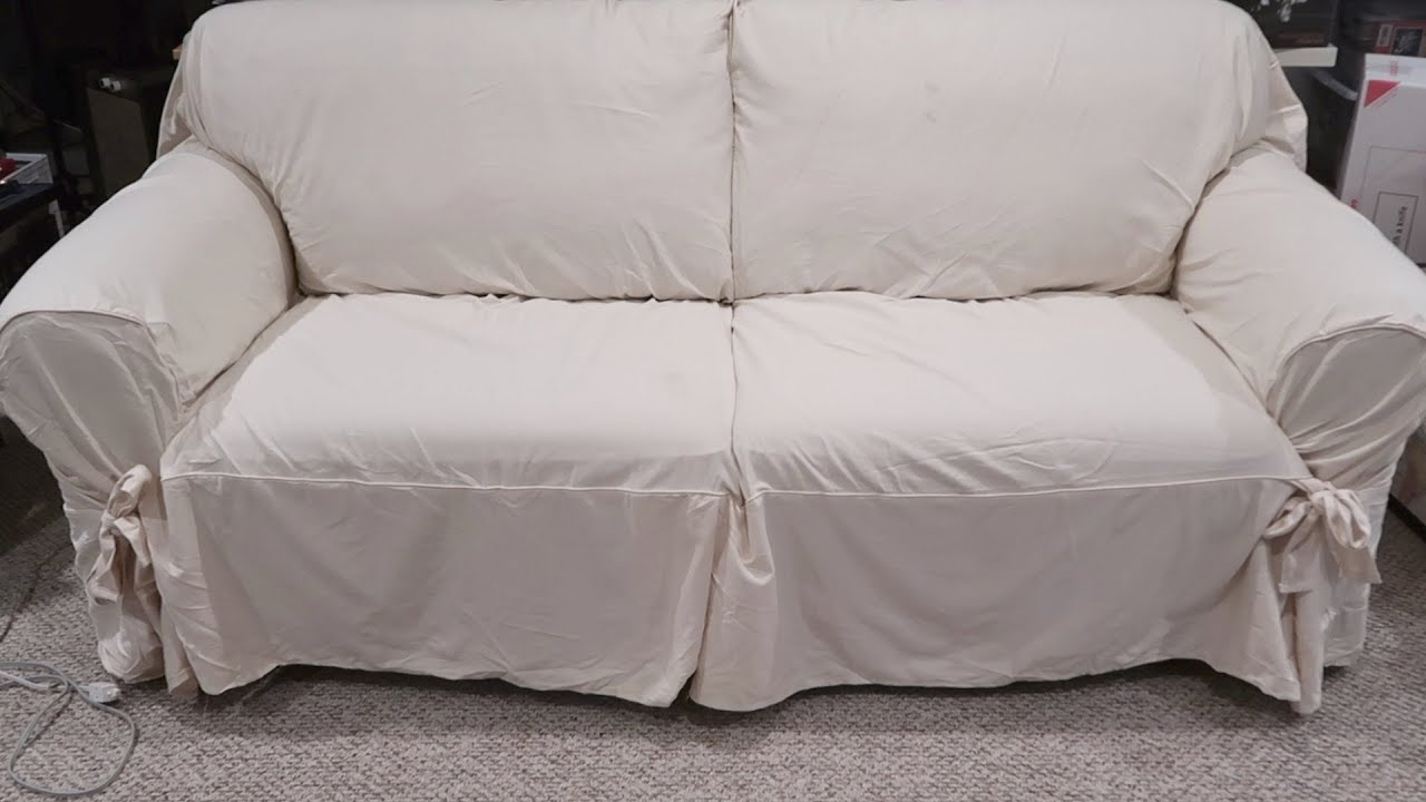 Sure Fit Sofa Slipcover Review Designer Twill Relaxed Unboxing Setup Lucky Ferals