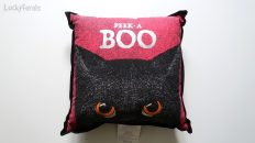 Black Cat Peek A Boo Pillow