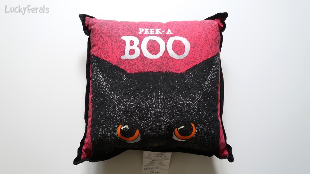 Black Cat Peek A Boo Pillow