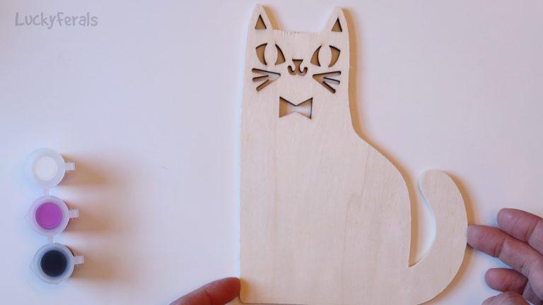 cat crafts Painting Wood Cat