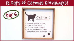 Win Cat Wall Art! It's Day 6 of the 12 Days of Catmas Giveaways!