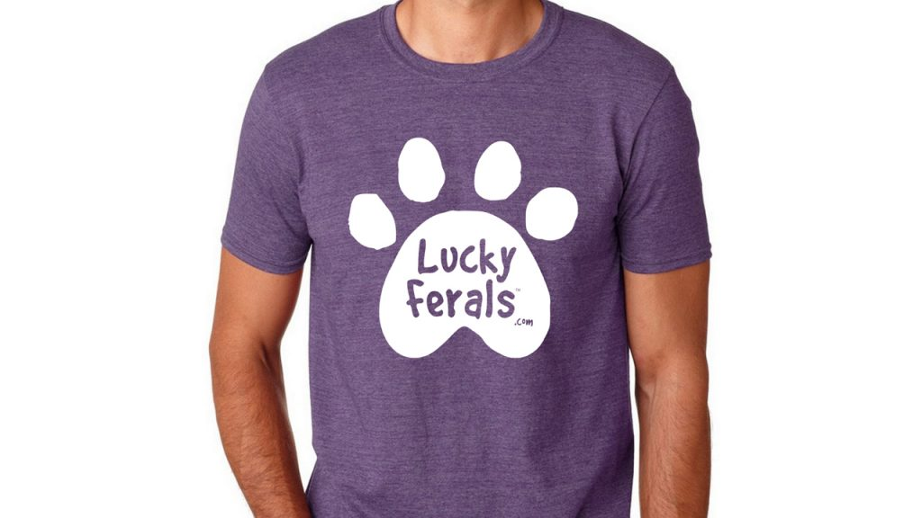 lucky ferals purple tshirt