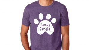 lucky ferals purple tshirt