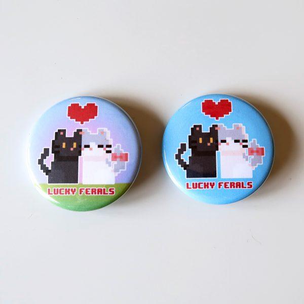 8 bit love buttons