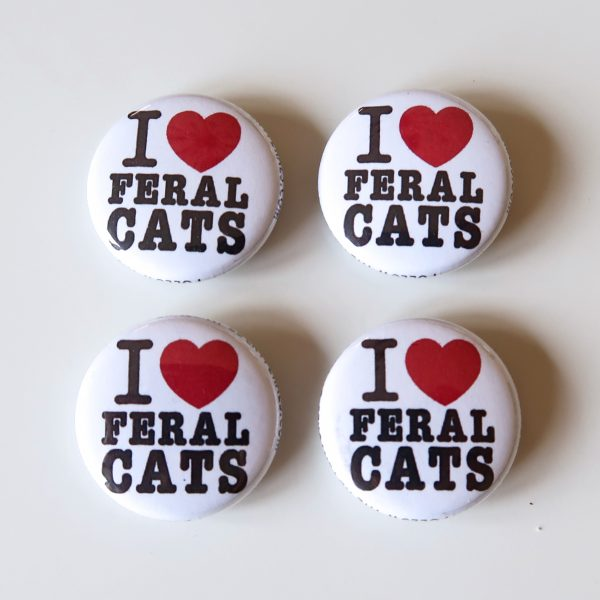 I Love Feral Cats Magnets