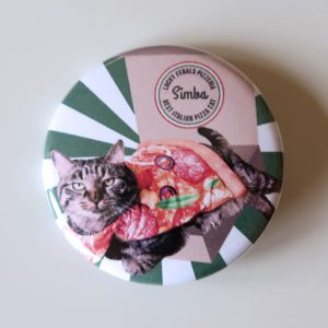 Simba Pizza Cat Button