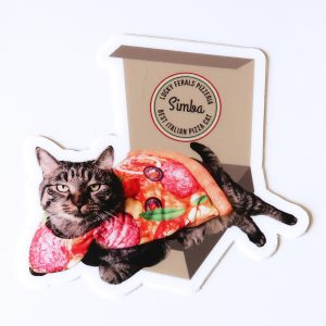simba pizza cat sticker