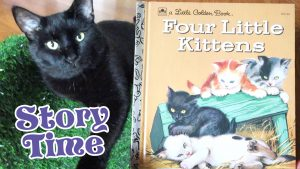 Story Time With The Cats - Four Little Kittens - A Little Golden Book