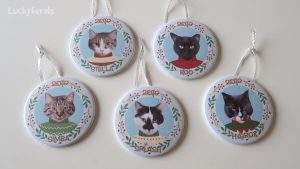Win A Set Of Lucky Ferals Limited Edition Christmas Ornaments!